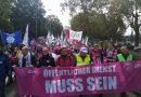 Landesweiter Warnstreik im öffentlichen Dienst in Hessen